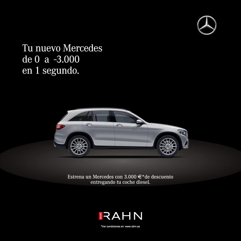Campaña de Mercedes para Grupo Rahn. Gráfica. JFT Comunicación